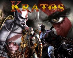 God of war 3 Kratos Wallpaper by Rodrigovg3