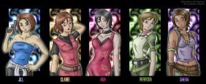 The Girls of Resident Evil by AmyJSmylie