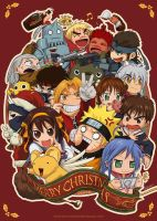 Christmas Anime Craze 2008 by haruningster