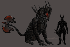 Black Knight monster concept by Vetisx