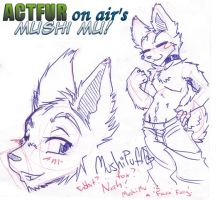 Mushi the 'Faux Furry' by ACTFuronair
