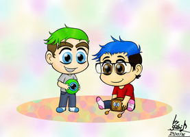 Chibi Mark and Jack by Waffle-the-kitten