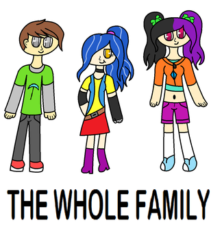 The Whole Family (Mike, Vanessa and Casey) by PrettyMelodyRhythm