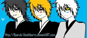 BLEACH : kaien,ichigo,hichigo by byaruki-deathberry