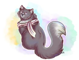 Look at me I'm a pretty kitteh by Tikitail