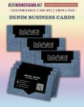 2 Free Denim Business Card Templates in Photoshop by fiftyfivepixels