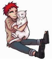 Gaara and a Kitty by bassooniac