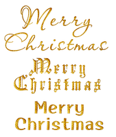 Merry Christmas - English - Gold by Hermit-stock