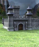 Castle Stock Parts #38 grassy premade background by madetobeunique