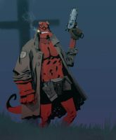 Hellboy by johnlaine