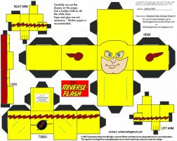 Villains 1: Reverse Flash Cubee by TheFlyingDachshund