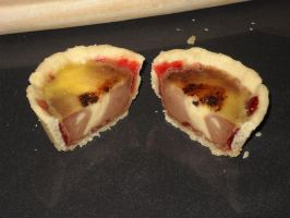 Neapolitan Custard Tart Cross Section by Bisected8
