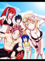 fairy tail Beach! by i-azu