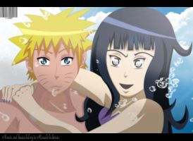 Naruto and Hinata Love Beach by Sarah927