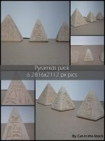 Carved pyramids pack by Cat-in-the-Stock