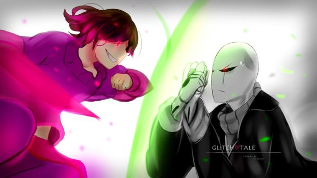 glitchtale betty and gaster ep3 by Toreshi