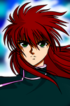 kurama lineart-colored by Kurama-Luv
