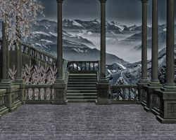Staircase 1 Premade Background by VIRGOLINEDANCER1