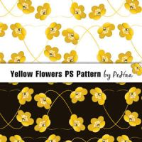 Yellow Flowers PS Pattern by analeewon