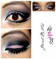 Purple night makeup by stardustbyzali