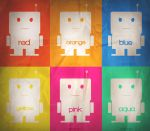 Robot tile wallpaper by zer0nyx