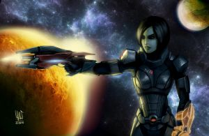 Mass Effect 3: Shepard by mkw-no-ossan