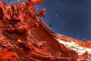 Detail of Axisworld Red Dusk by Saquedon