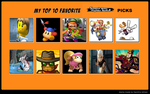 My Top 10 picks for the Smash Bros. Fighter Ballot by MystifiedBeef