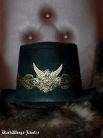 Steampunk top hat by BlackWings-jewelry