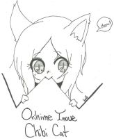 Chibi Orihime Cat by animebleach14