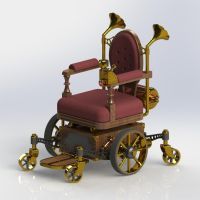 Steampunk Wheelchair (front) by Dixbit