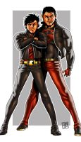 Red Robin and Superboy by HectorBarrientos