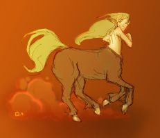 Centaur run by StressedJenny