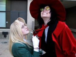integra and alucard- listen to me!! by zoewp