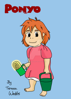 Ponyo Colour Version by AnimationFanatic