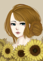 Sunflower by Nikkou-Bunney