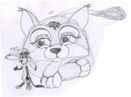 Cat and Rodent thing- Sketch by Stitchfan
