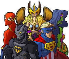 Avenging League of America by ArtToroArtServices