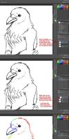 Coloring Line Art Tutorial by FrOoTcAkE