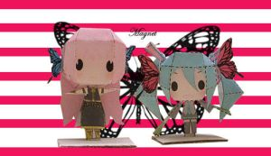 Vocaloid Magnet Papercraft by tsunyandere