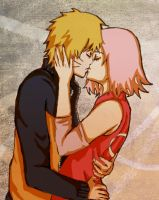 NaruSaku Kiss by nyuhatter