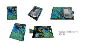 Peacock Kindle Cover by The2SistersShoppe