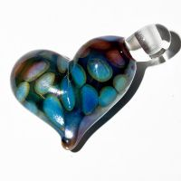 Glass Heart Pendant Number 3 by copperrein