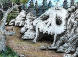 Skull Cave by Rachykins
