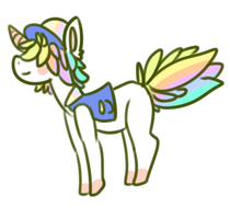 rainbow pony adopt auction. -open- by OfficerMittens