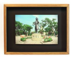 Louis Riel Statue Framed Print by Joe-Lynn-Design