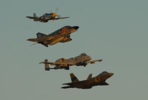 Nellis Heritage Flight 1 by AirshowDave