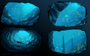 Environment 1, underwater practice by Kiarya