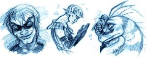 Underwater Brooding Sketches by MistyTang