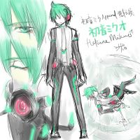 Mikuo Append sketch by almondrooster